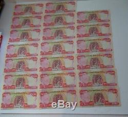 Dinars Irakiens Iqd Monnaie 500.000 Unc Crisp Authentiques 20 X 25.000 Notes