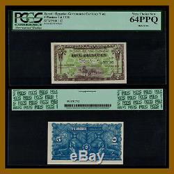 Égypte 5 Piastres, 1918 P-162 Pcgs 64 Ppq Monnaie Du Gouvernement Égyptien