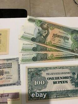 Énorme Lot De Papier Étranger Dans Le Monde Devise, 650+ Billets, Beaucoup Unc & Consécutif