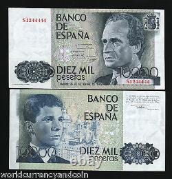Espagne 10000 Pesetas P161 1985 Euro King Juan Unc Currency Money Bill Bank Note