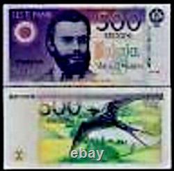 Estonie 500 Krooni P80 1994 Hirondelle Euro Unc Rare Monnaie Argent Bill Note