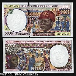États D'afrique Centrale Tchad 5000 Francs P604p 1997 Navire Unc Monnaie Argent Remarque