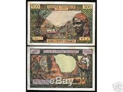 États D'afrique Équatoriale 500 Francs P4 1963 Camel Unc Rare France Currency Note