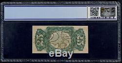 États-unis 25 Cents 1863 Devise Fractionnelle Pick # 109d Pcgs 62 Unc