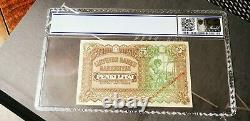 Extrêmement Rare Monétaire Lithuanienne Spécimen Billet 5 Litai Émis En 1922 Unc