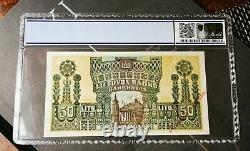 Extrêmement Rare Pièce De Monnaie Lituanienne Billet 50 Litu Émis En 1922 Unc