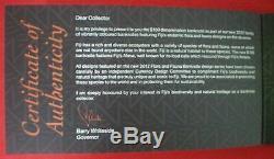 Fidji 100 Us $ 1 Cent Dollars Dossier 2012 Oiseau Flore Faune Monnaie Bank Billet Unc