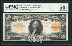 Fr. 1187m 1922 $20 Mule Gold Certificate Currency Note Pmg About Unc-50epq