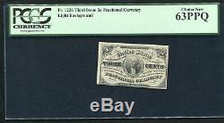 Fr. 1226 3 Trois Cents Troisième Question Fractional Currency Remarque Gpc Unc-63ppq