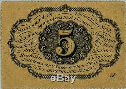 Fr. 1228 Cinq Cents 5c 1 Er Numéro Fractional Currency Ch Unc64 Pmg 929126-1