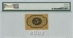 Fr. 1228 Five Cent 5c 1er Numéro Monnaie Fractionnaire Ch # 929126-1 Unc64 Pmg