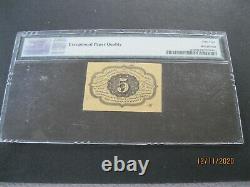 Fr-1230 Première Émission 5c Cent Fractional/postage Currency Pmg 64 Epq Choice Unc