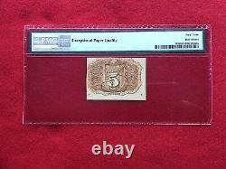 Fr-1233 Deuxième Question 5c Cinq Cent Fractional Currency Pmg 63 Epq Choix Unc