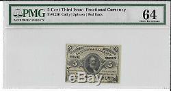 Fr 1236 5 Cents Troisième Question Fractional Currency Pmg 64 Ch Unc Livraison Gratuite