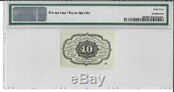 Fr 1242 10 Cents Première Question Fractional Currency Pmg 64 Ch Unc Epq Expédition Gratuite