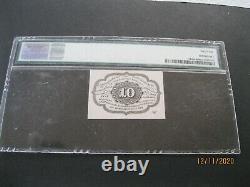 Fr-1242 Première Émission 10 Cent Fractional / Monnaie Postale Pmg 64 Choice Unc