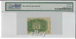 Fr 1246 10 Cents 2e Numéro Fractional Currency Pmg 62 Unc Livraison Gratuite
