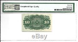Fr 1259 10 Cents 4 Numéro Fractional Currency Pmg 64 Ch Unc Livraison Gratuite
