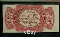 Fr. 1291 25c 25 Cents 3ème Edition Fractional Currency Pmg 63 Unc Choix Gem