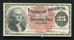 Fr. 1302 25 Vingt-cinq Cents Quatrième Question Fractional Currency Note Unc