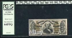 Fr 1339 50 Cents 3e Numéro Fractional Currency Spinner Type II Gpc Unc-64ppq