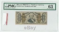 Fr 1339 Troisième Numéro 50 ¢ Vert Retour Pmg 63 Choix Unc Fractionnel Monnaie Cinquante