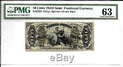 Fr 1358 50c Fractionnel Monnaie Troisième Numéro Pmg 63 Ch Unc Livraison Gratuite