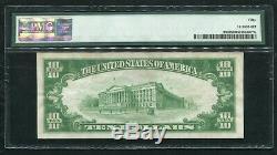 Fr. 2400 1928 $ 10 DIX Dollars Certificat D'or Monnaie Remarque Pmg A Propos Unc-50