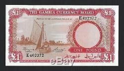 Gambie 1 Pound Nd (1965-1970) P-2 Currency Board, Fresh Pack Ch. Unc & Souhaitable