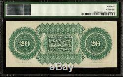 Grand Unc 1872 $ 20 Dollar Bill Caroline Du Sud Note Devise Billets Pmg 64