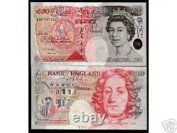 Grande-bretagne 50 Livres P-388 1994 Queen Unc GB Uk Currency Money Bill Bank Note