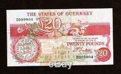 Guernesey 20 Livres P55 1995 Navire Gibraltar Frigate Bay Unc Monnaie Argent Remarque