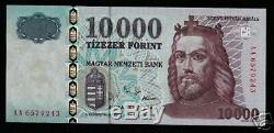 Hongrie 10000 Forint P192a 2001, L'europe Unc Roi Monnaie Argent Bill Billets De Banque