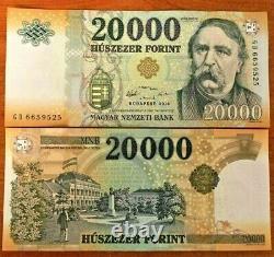 Hongrie 20000 20000 Forint P-207 2016 X 1 Pcs Unc Devise Huf Bank Note