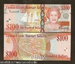 Îles Caïmans 100 Dollars Nouveauté 2010 2011 Navire À Poisson Queen Unc Currency Money Note