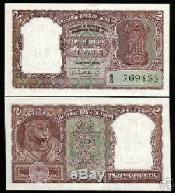 Inde 2 Roupies P30 1962 Ashoka Tiger Unc Pcb Billets De Billets De Monnaie Indiens