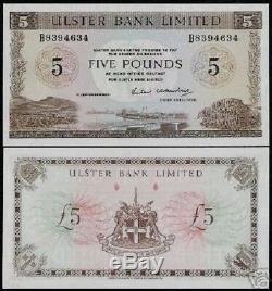 Irlande Du Nord 5 Livres P326 1986 Navire Unc Pont Port Monnaie Argent Banknote