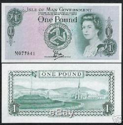 Isle Of Man 1p. P38 1983 Reine Première Unc Polymère M Pfx Banknote Monnaie