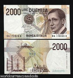 Italie 2000 Lira P115 1990 Bundle Marconi Radio Navire Unc Monnaie Billet De 100 Pcs
