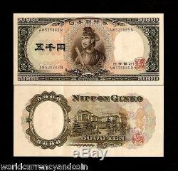 Japon 5000 5 000 Yen P93 1957 Shotoku Taishi Unc Monnaie Japonaise Note