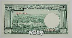 Jordanie 1949 (1952) Billet De 1 Dinar Au / Unc Pk # 6a King Hussein