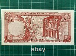 Jordanie 1/2 1 5 10 Dinars P13 14 15 16 1959 Hussein Unc X 4 Monnaie Complet