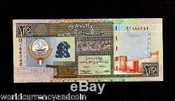 Koweït 20 Dinars P28 1968 1994 Arabe Bateau Falcon 14 Signe Unc Golfe Monnaie Remarque