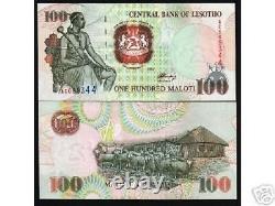 Lesotho 100 Maloti P-18 1994 Cheval Mouton Unc Rare Monnaie Argent Bill Billets De Banque