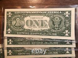 Lot De 14 1957 Un Dollar Note $1 Silver Certificate Blue Seal Unc Currency Lot