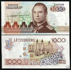 Luxembourg 1000 Francs P59 1985 Euro Sketch Unc R Monnaie Rare Money Bank Note