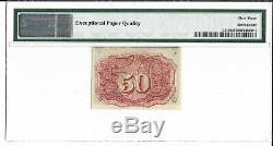 M1 Fr 1318 50 Cents Fractional Currency Pmg 63 Epq Ch Unc Livraison Gratuite