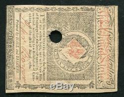 Ma-281 5 Mai 1780 $ 4 Quatre Dollars Massachusetts Colonial Monnaie Remarque Unc