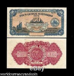 Macao Chine 50 Avos P38 1946 Macao Witho Serie # Unc Portugal Monnaie Argent Note