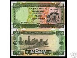 Macao Macau 500 Patacas P69 1990 Bateau Unc Portugal Chine Monnaie Argent Banknote